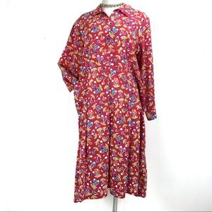Vintage Red Mod Cherry Dress